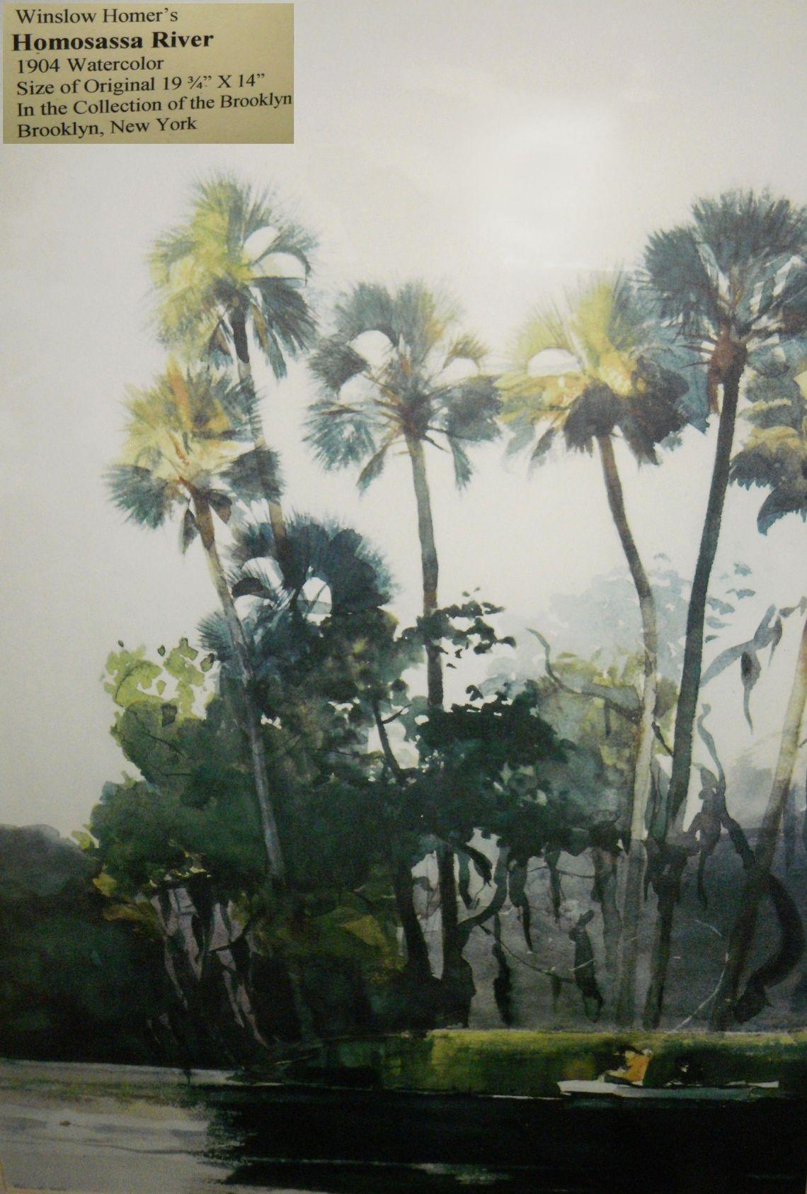 2013 Winslow Homer Paintings Homosassa River Garden Club